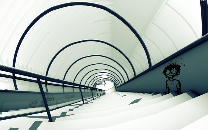 Escalier fond écran wallpaper