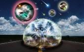 fond écran digital planet