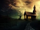 fond écran Eglise sombre