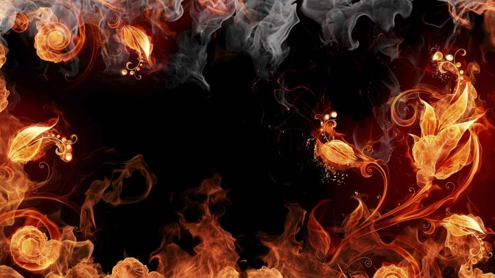 Fire Flower fond écran wallpaper