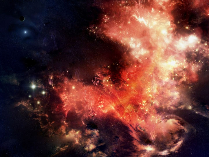 Brasier stellaire fond écran wallpaper