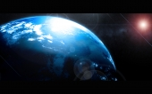 fond écran Planète bleu