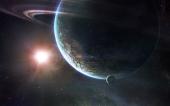 fond écran Une planète..