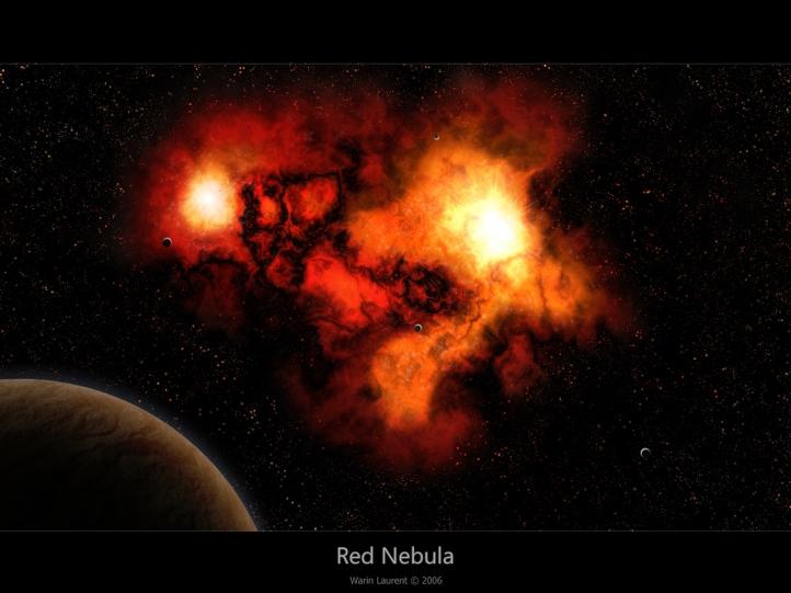 Red Nebula fond écran wallpaper