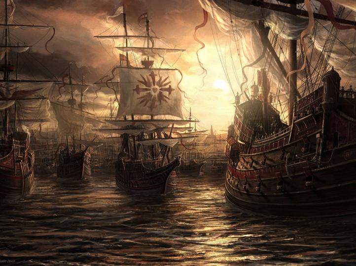 Fantasy Boat fond écran wallpaper