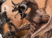 fond écran Fantasy Dragon