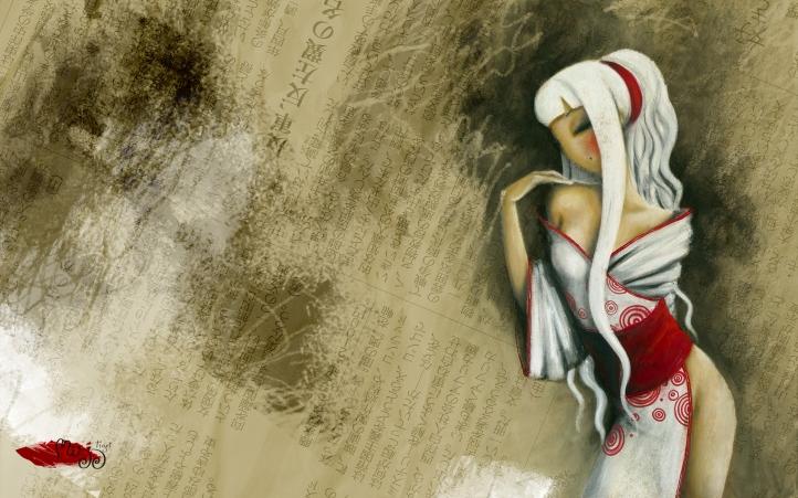 Kimono Blanc fond écran wallpaper