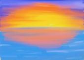 fond écran Soleil peinture