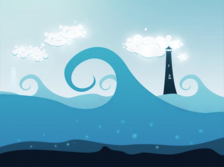 La mer fond écran wallpaper
