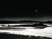 fond écran Une plage la nuits
