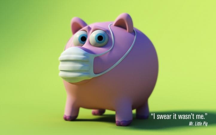 Cochon grippé fond écran wallpaper