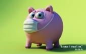 fond écran Cochon grippé
