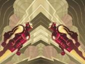 fond écran Iron Man Comics