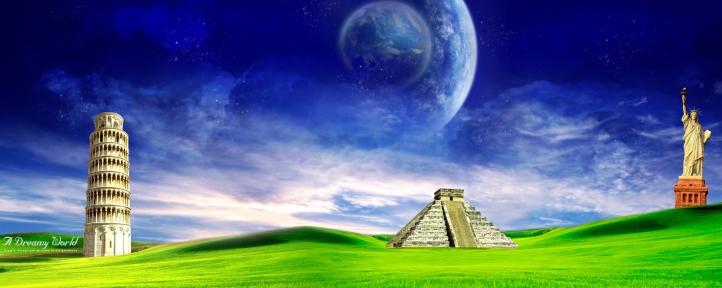 wallpaper paysage. Fond d#39;écran Paysage Dual