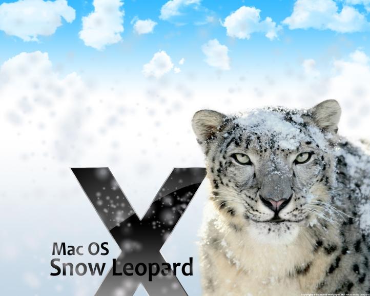 Snow Leopard fond écran wallpaper