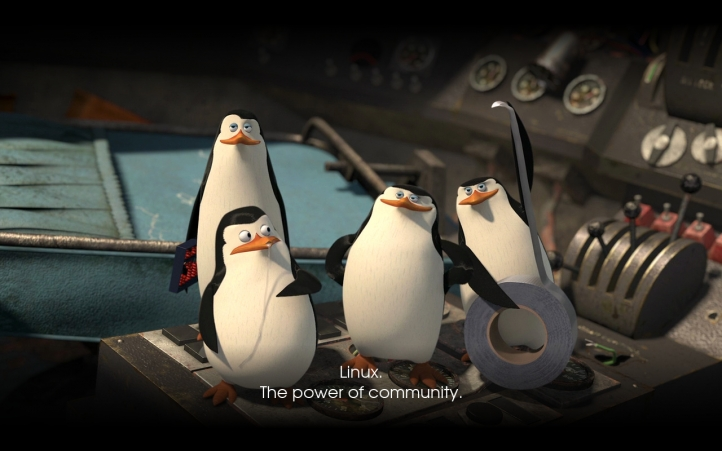 Linux the power of community fond écran wallpaper