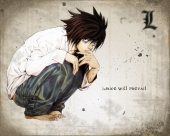 fond cran L Death note..