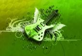 fond écran Guitare verte
