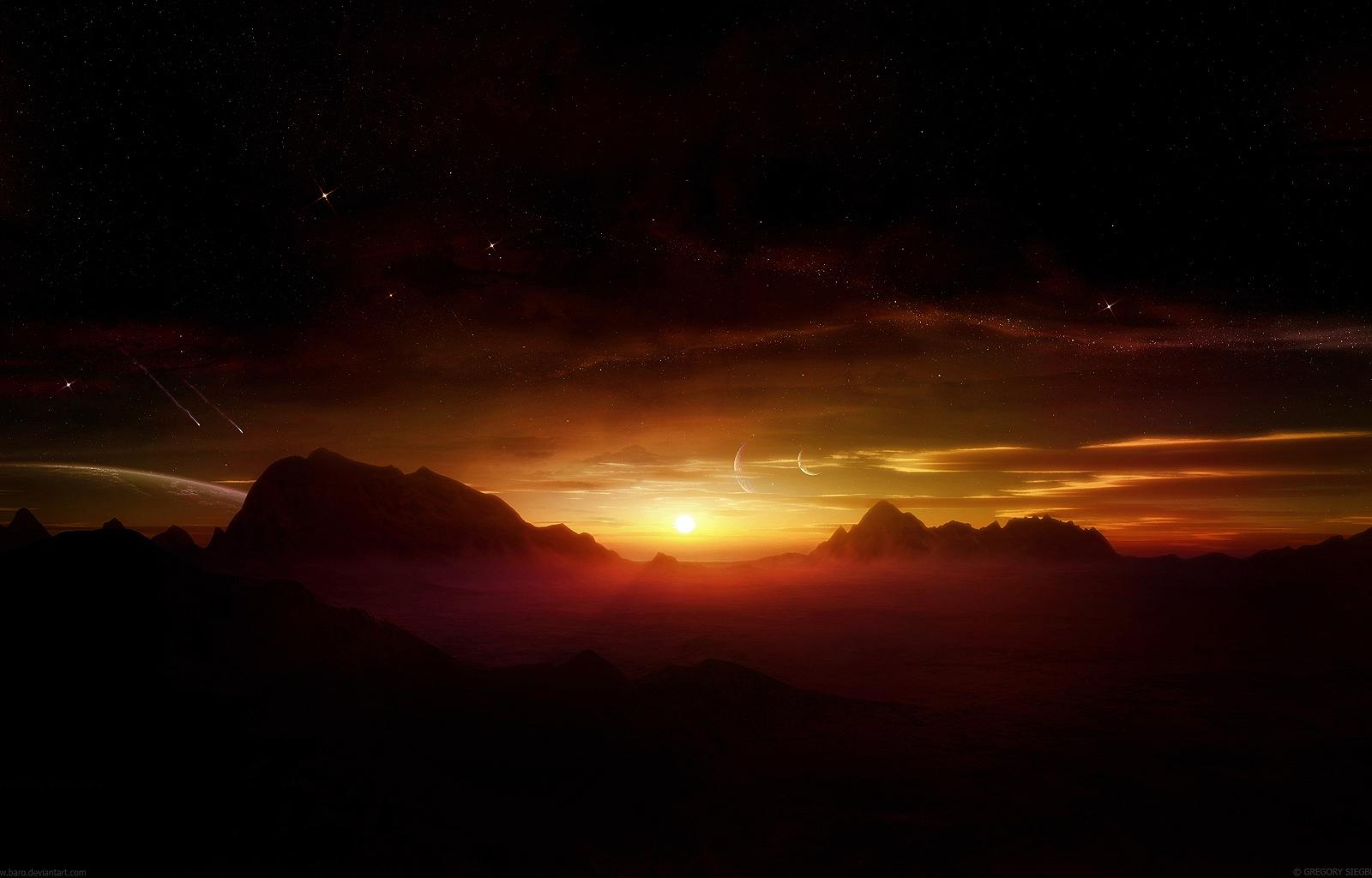 Votre fond d'écran Coucher-de-soleil-couchers-et-levers-de-soleil-nature