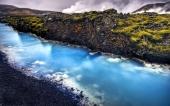 fond écran Rivière bleue