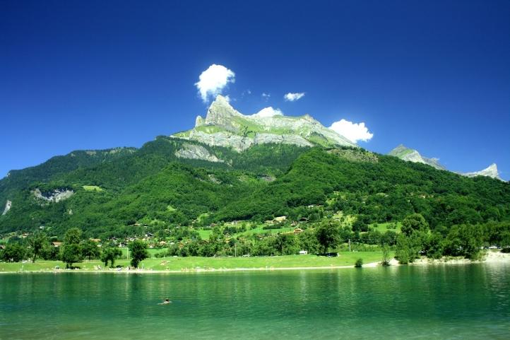 Lac de montagne fond écran wallpaper
