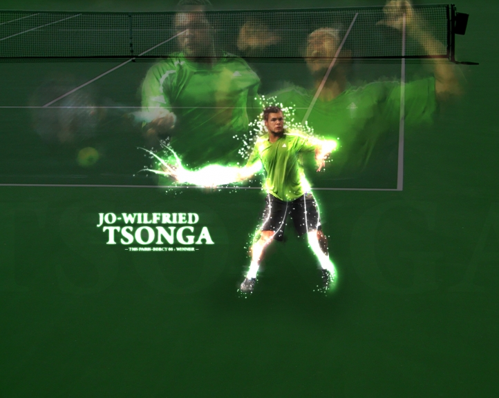 Joe Wilfried Tsonga fond écran wallpaper